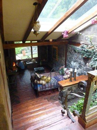 Hacienda Rumiloma: Wohnzimmer
