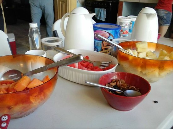 Hostal Zócalo: Breakfast table