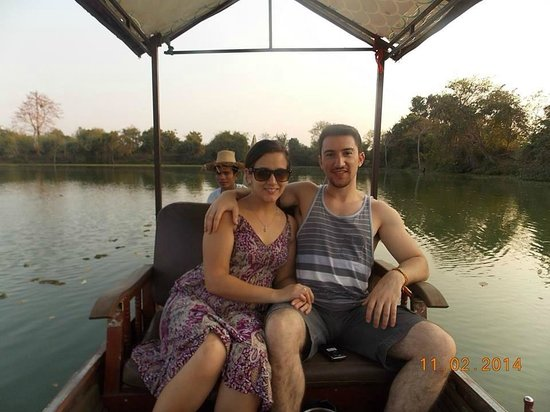 Private Siem Reap Tour Guide: me and my girl on the river boat ride