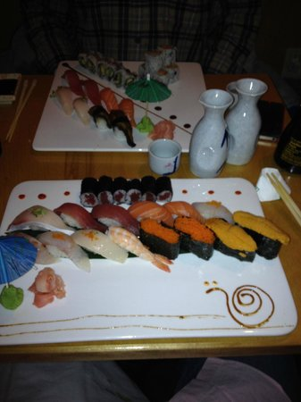 Wasabi Japanese Restaurant: Both Sushi Deluxe and the Wasabi Special never disappoint, with Tobiko and Uni