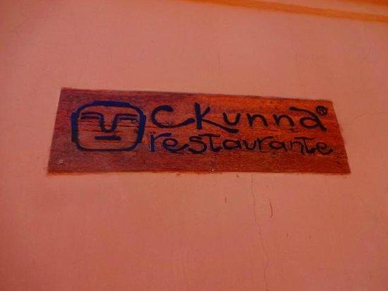 Ckunna: Logomarca do restaurante
