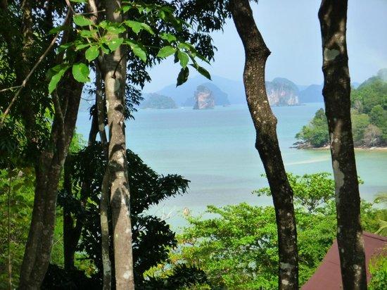 Hill House : La vue depuis la terrasse du bungalow Lek 2.
