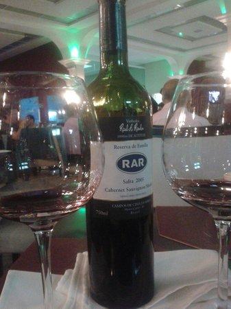 Chef Lopes: Recomendo vinho brasileiro da Aurora série especial RAR reserva 2005.