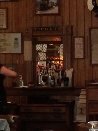 Sullivan Station Restaurant: Ticket window served as bar pass thru to table servers