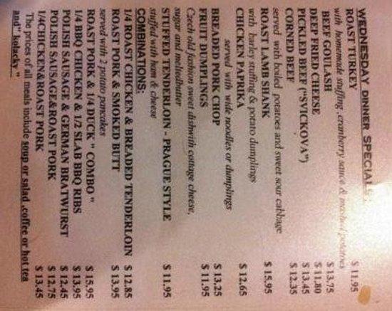 Bohemian Crystal: Hey, it's tonight's menu, look at it sideways.
