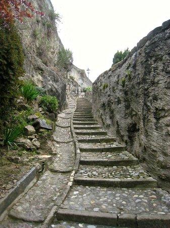 The walk up to Domaine du Burignon