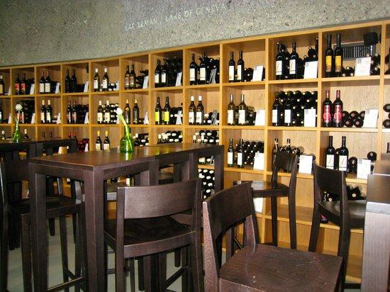 Domaine du Burignon: tasting room at the Lavaux Vinorama