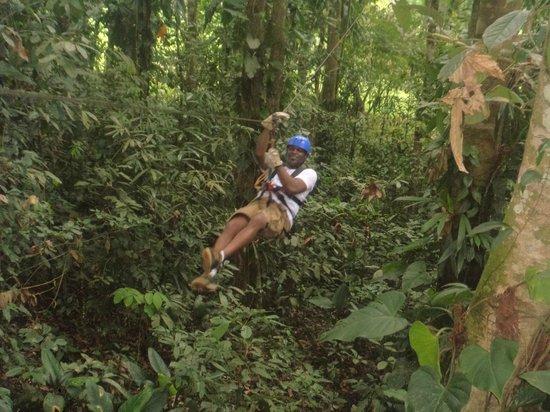 Costa Rica Fun Adventures: Me zipping