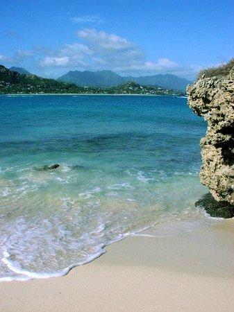 Lanikai Beach : This was taken from the Mokulele islands back to Lanikai