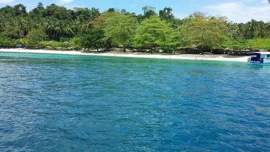 Isla Reta Beach Resort: Isla Reta coastline...