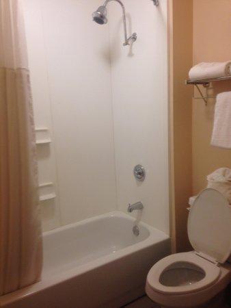 Quality Inn & Suites Huntsville: bathroom shower