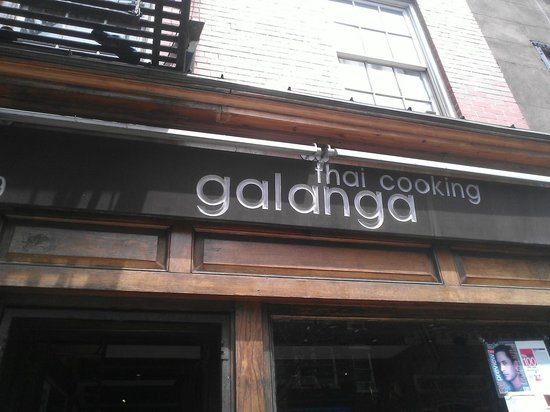 Galanga : The sign above the entrance