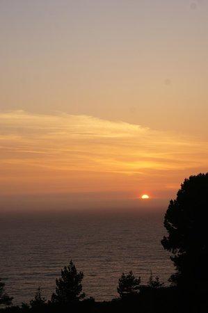 Treebones Resort: View from treebones at sunset