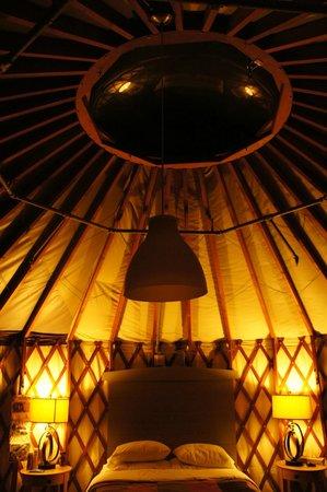 Treebones Resort: Inside Yurt number 3