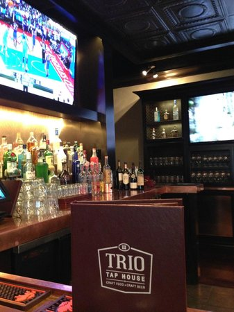 TRIO Tap House: Our Bar View