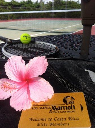 Los Suenos Marriott Ocean & Golf Resort: Tennis courts in excellent condition