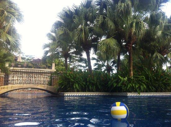 Los Suenos Marriott Ocean & Golf Resort: Pool volleyball & archways connecting pool