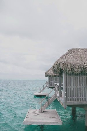 Conrad Bora Bora Nui: Water bungalow - view from the room