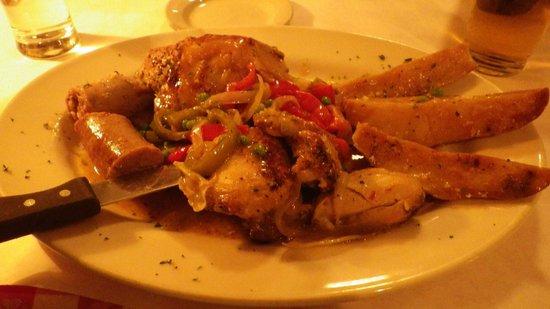 P.J. Clarke's: poulet au chablis saucisse et poivrons