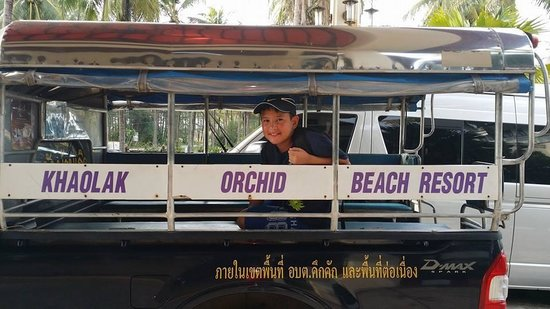 Khaolak Orchid Beach Resort: Shuttle- in a Songtiaw