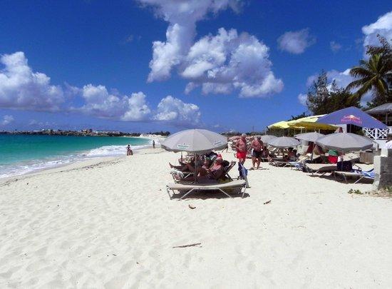Beach chairs and umbrellas at Karakter