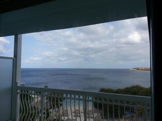 Hilton Curacao: Beach View From Room Balcony