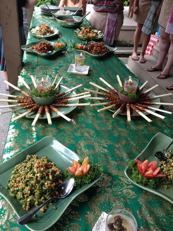 Paon Bali Cooking Class: Some of the 8 courses that we made that day.