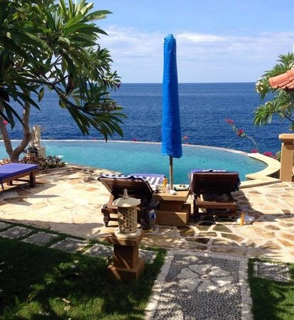Blue Moon Villas: View from private living area/balcony