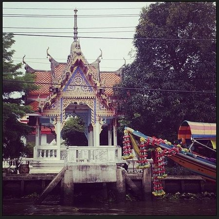 Small Teak Boat Canal Adventure: on the canal