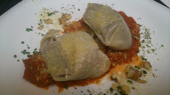 Restaurante Inigo Lavado: raviolis de hongos