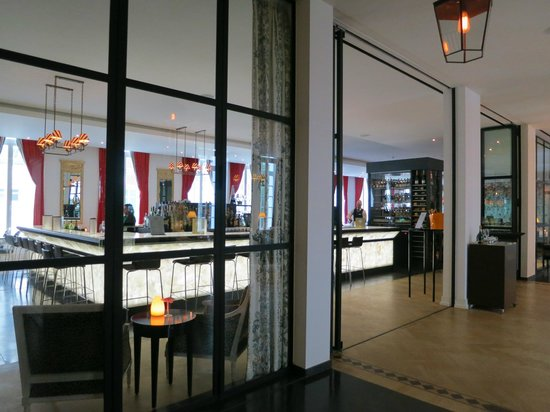 Bar Next To Restaurant Picture Of Pillows Grand Boutique Hotel Reylof Ghent Tripadvisor
