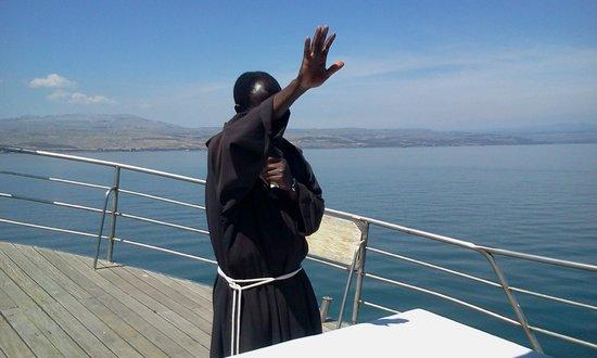 Sea of Galilee : Fr, Benjamin from Ghana