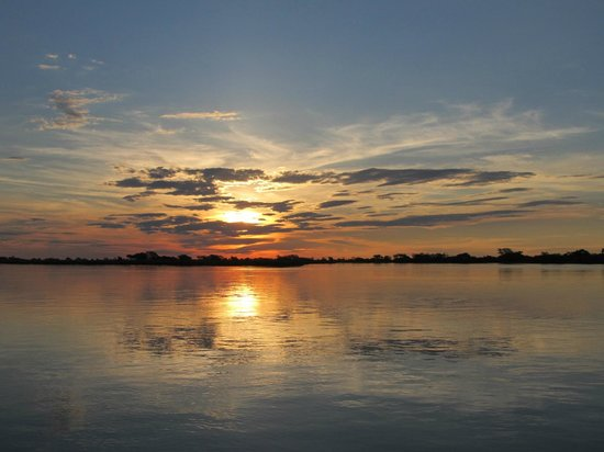 Shackletons: Sunset on the river.