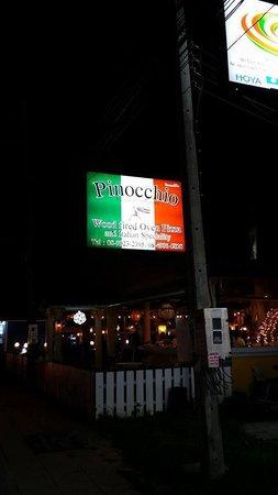 Pinocchio Italian Restaurant: Pinocchio Sign