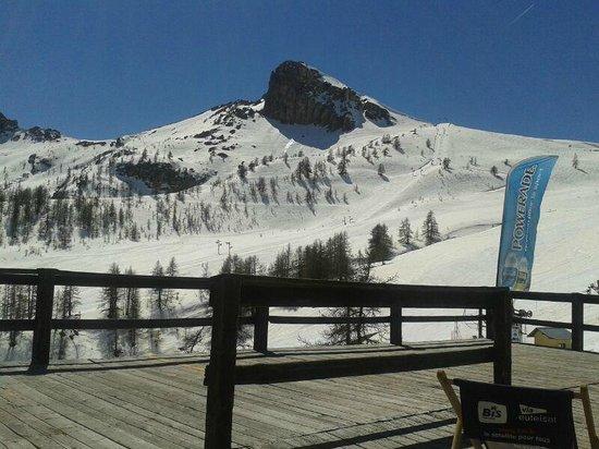 Lagrange Vacances Le Hameau du Rocher Blanc : Terrasse altitude Serre Chevalier