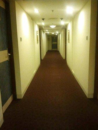 Aditya Hometel : Corridor in front of rooms
