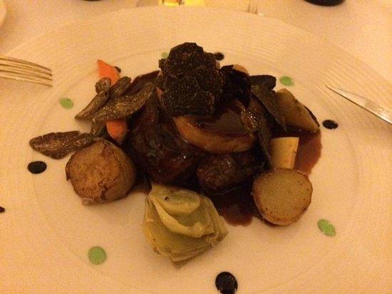 La Bastide du Calalou : Filet de boeuf, foie gras et truffe