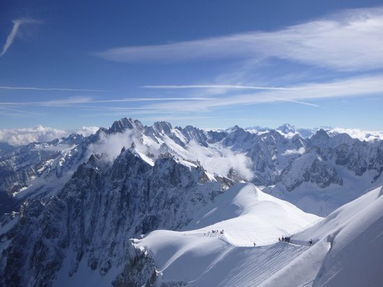 Fly Chamonix - Tandem Paragliding: View down the Aig du Midi arete
