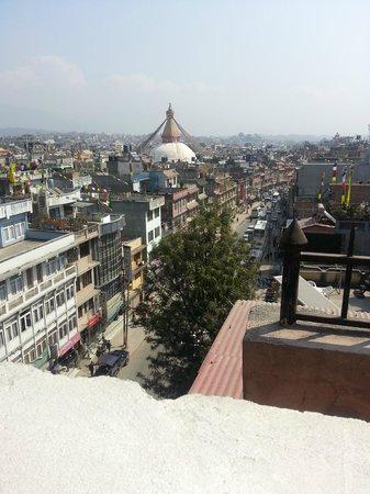Hotel Tibet International: View from the breakfast restaurant