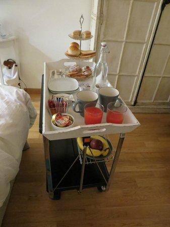 La Finestra sul Colosseo B&B : Breakfast tray