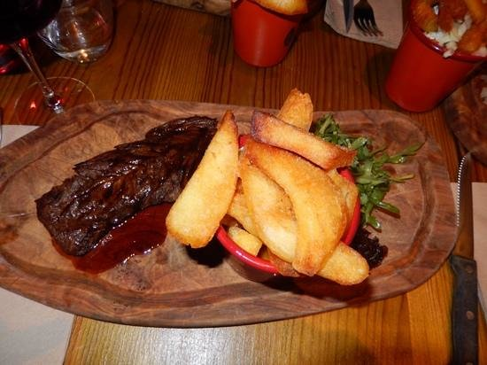 Plateau: From the daily special board .. steak and chips