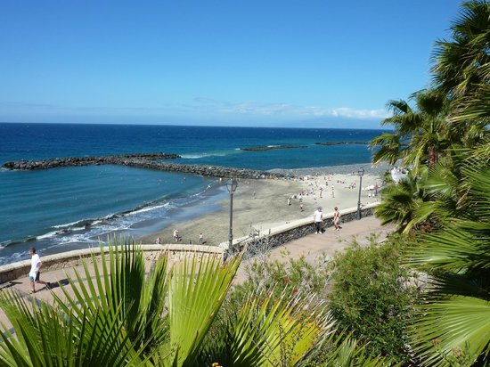 IBEROSTAR Grand Hotel El Mirador : View from Sunbathing area of beach to the right and promenade below which leads you towards Call