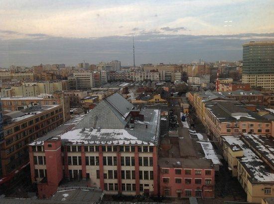 Radisson Blu Belorusskaya Hotel: Вид из моего номера