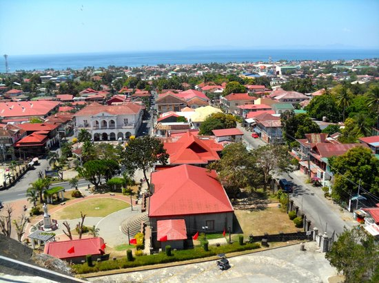 Basilica of St. Martin de Tours: Town of Taal as seen from the top of the basilica