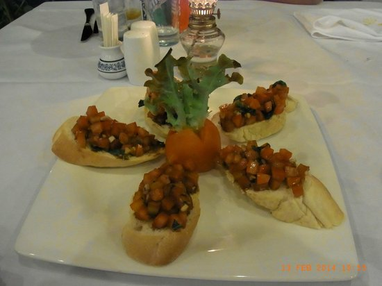 Rajapruek Samui Resort: Dinner, 1. Vorspeise im Hotel Rajapruek