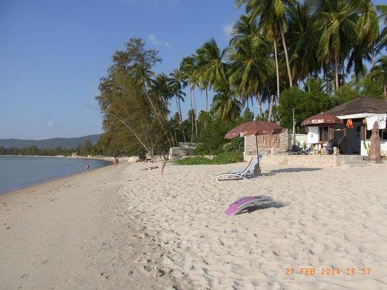 Rajapruek Samui Resort: Hotelstrandbereich mit Blick nach Norden (Nathon)