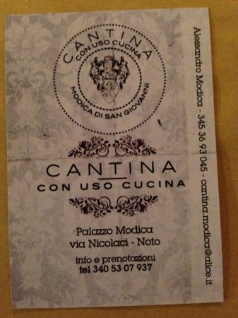 Cantina Modica: Reference