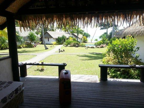 Tamanu Beach : Il portico della nostra villetta