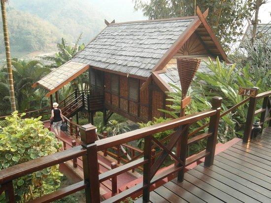 The Luang Say Lodge: Cabana am mekong