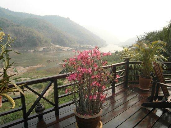 The Luang Say Lodge: Blick von der Terrasse auf den Mekong